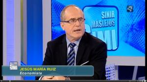 Jesús MAria Ruiz de Arriaga en el programa de TV de aragontv.