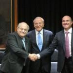 De Guindos con la cupula de Catalunya Banc