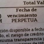 preferentes fecha vencimiento perpetua