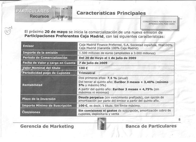 Documento sobre la comercializacion de preferentes de Bankia FUENTE EL DIARIO.ES