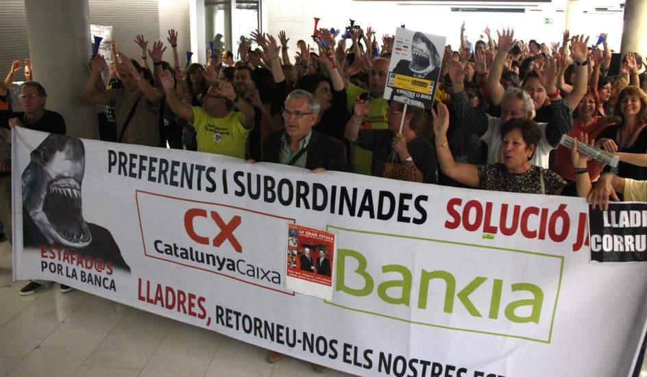 Afectads preferentes Catalunya Caixa y Bankia FUENTE Diario 20 minutos