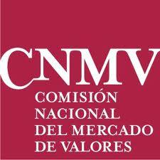 Logo de la Comision Nacional del Mercado de Valores FUENTE Twitter oficial de la CNMV
