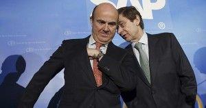El ministro De Guindos con el presidente de Bankia FUENTE rtve.es