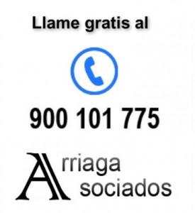 Telefono gratuito Arriaga Asociados