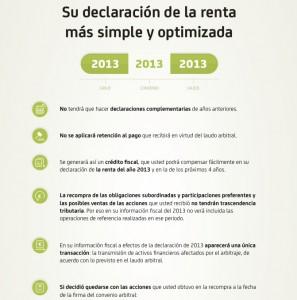 Imagen de la nueva web de Bankia sobre la fiscalidad del arbitraje FUENTE Bankia