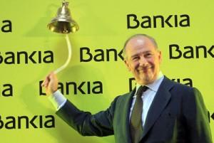 Rodrigo Rato era presidente de Bankia cundo la entidad salio a Bolsa y vendio las aciones a sus clientes FUENTE El Pais