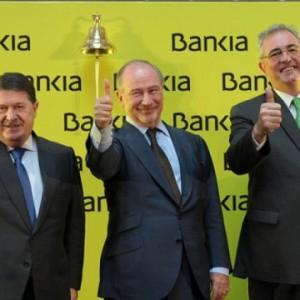 Momento de la salida a Bolsa de las acciones de Bankia en 2011 FUENTE Meneame.net
