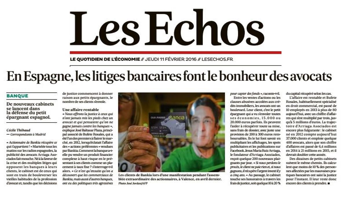 Entrevista diario francés LesEcho