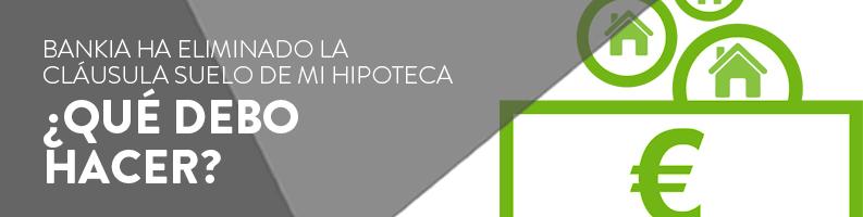 Reclamar cláusula suelo de Bankia
