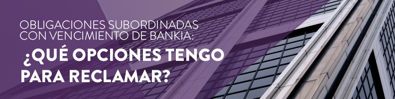 Obligaciones subordinadas Bankia