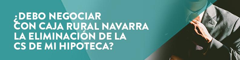 Cláusula suelo de la Caja Rural Navarra