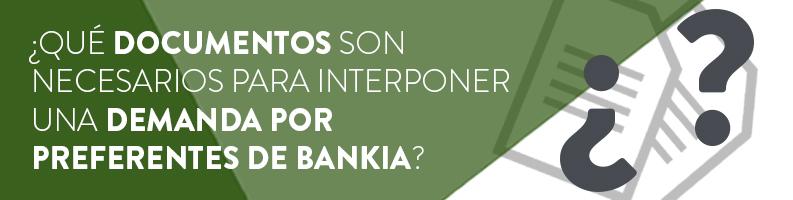 Documentación para la demanda de Preferentes Bankia