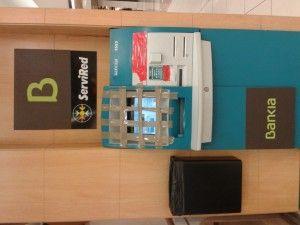 Cajero de Bankia en un centro comercial de Valencia