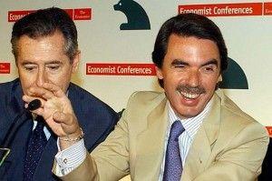 Aznar y Blesa en un acto publico de Caja Madrid FUENTE Diario Fenix