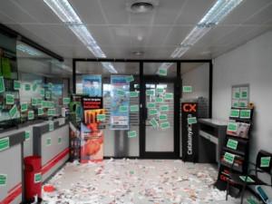Oficina de Caixa Catalunya en Barcelona FUENTE Asamblea Parados