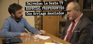 Imagen del programa Salvados sobre las preferentes en La Sexta TV