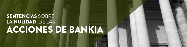 Sentencias sobre la nulidad de las acciones Bankia