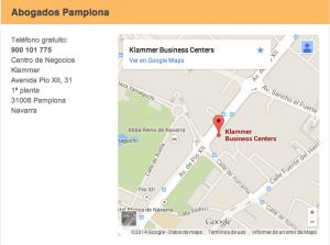Ubicacion de Arriaga Asociados abogados en Pamplona FUENTE arriagaasociados.com
