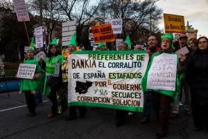 El canje de preferentes por acciones supuso una quita del 38 por cien para los preferentistas de Bankia FUENTE Flickr.com