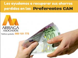 Los afectados por la venta de preferentes de la CAM optan por la via judicial para recuperar su dinero FUENTE arriagaasocaidos.com