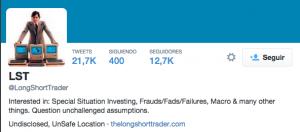 La cuenta de Daniel Yu, inversor de Gotham, da pistas sobre sus intenciones en la caida de Gowex FUENTE twitter.com
