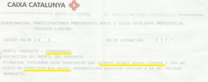 Folleto Informativo para la comercializacion de preferentes y subordinadas de Catalunya Caixa FUENTE arriagaasociados.com
