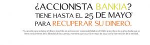 Las acciones de Bankia se pueden recamar hasta el proximo 25 de mayo de 2015 FUENTE arriagaasociados.com