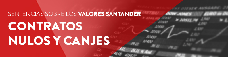 Sentencias sobre contratos de Valores Santander