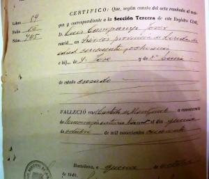 El certificado de defuncion es basico para tramitar una herencia particular FUENTE commons.wikimedia.org