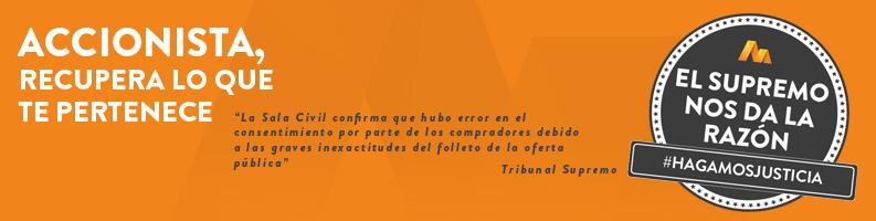 Sentencias de las acciones de Bankia
