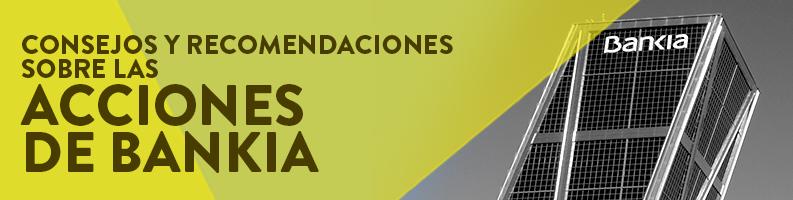 Recomendación acciones Bankia